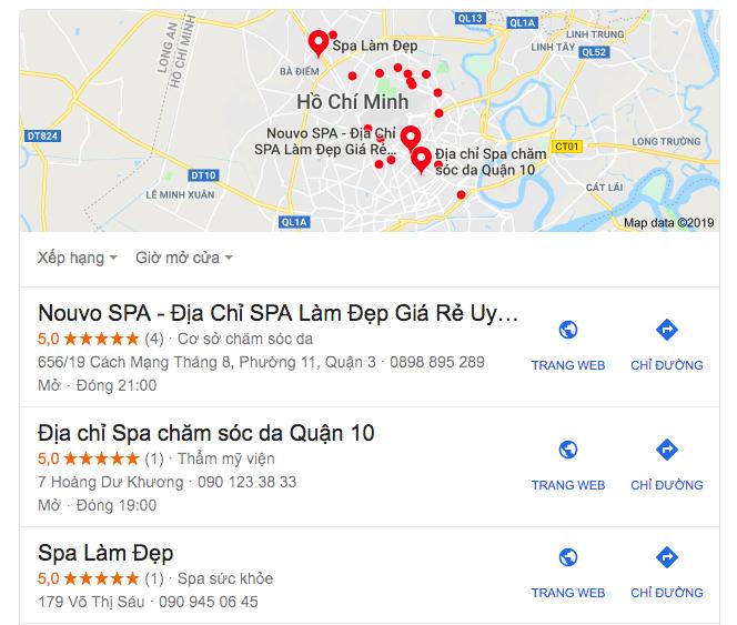 Hãy cho khách hàng biết thương hiệu spa bạn đang ở đâu.