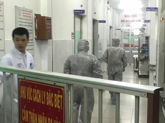 Khu vực cách ly hai bệnh nhân người Trung Quốc tại bệnh viện Chợ Rẫy.