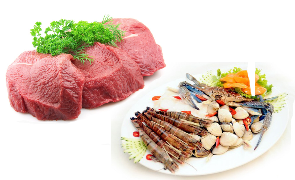 Giảm ăn thịt bò và hải sản