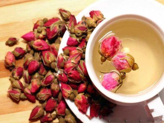 Trà hoa hồng khô